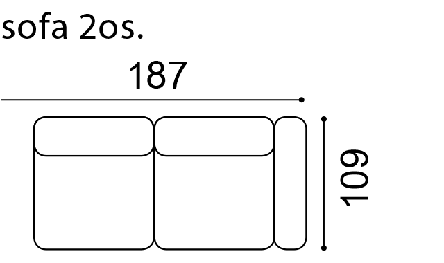 Диван Planet - Gala Collezione - Размери