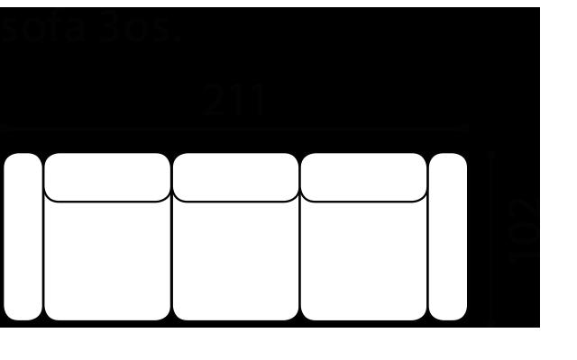 Диван Mello - Gala Collezione - Размери