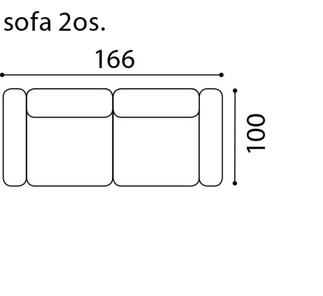 Диван Play - Gala Collezione - Размери