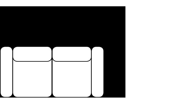 Диван Stella - Gala Collezione - Размери