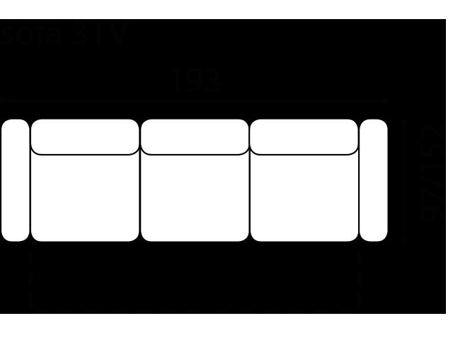 Диван Tivoli - Gala Collezione - Размери